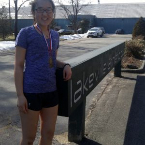 Annette Kim after she winning her round robin draw at the USTA L7 G14 tournament at Lakeville Athletic Club February 21!