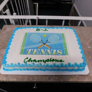 Cake from Men's B-1 championship party!