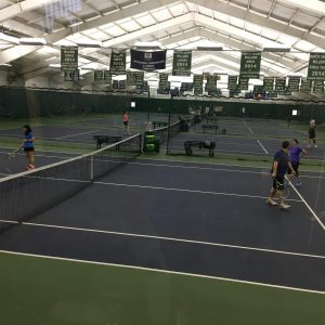 Willows members taking advantage of free court time at this years Member Appreciation Day.