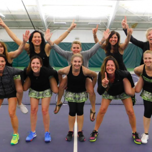 Women's A/L-4 Green team taking some celebratory pictures!